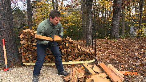 properly stack firewood youtube
