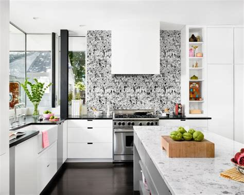 backsplash for black and white kitchen 9 kitchens with show stopping backsplash hgtv s 9066