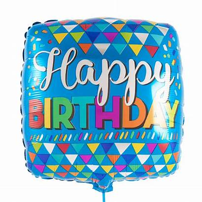 Birthday Happy Square Balloon Filled Inflated Helium