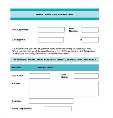 application template 19 exles in pdf word