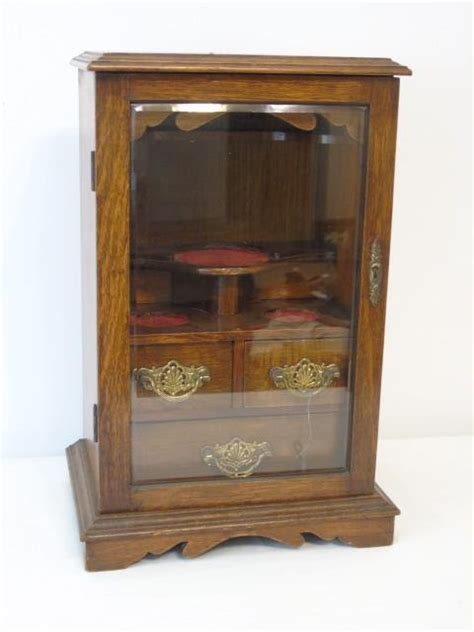 small table top curio cabinet antique english table top small display curio case