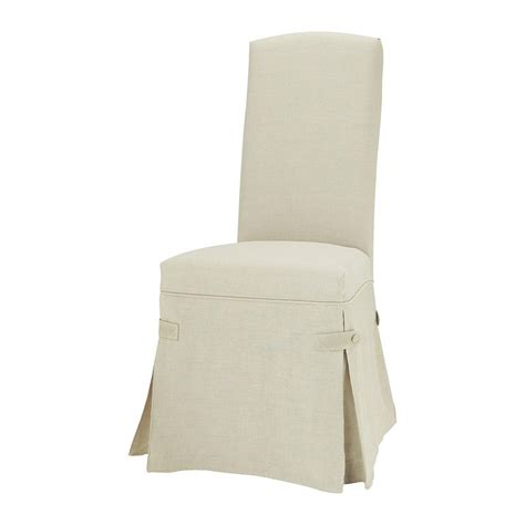 linen chair cover maisons du monde