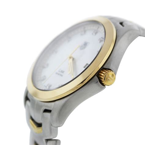 Tag Heuer Link Wjf1153 Two Tone Mother Of Pearl Diamond