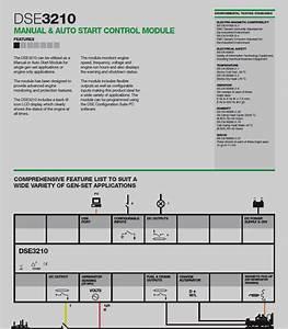Deep Sea Electronics Manual  U0026 Auto Start Control Module