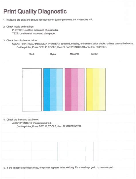 100 Color Laser Printer Test Page Printing A