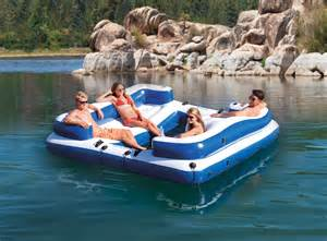 intex oasis island inflatable seated floating water lounge raft with dc air pump ebay