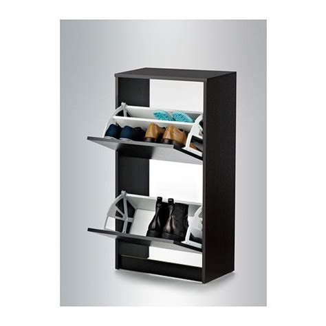 Ikea Bissa Shoe Cabinet by Bissa Shoe Cabinet With 2 Compartments Black Brown