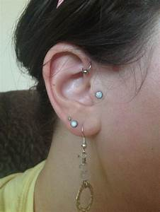 Forward helix piercing. Hoop | Piercings | Pinterest ...