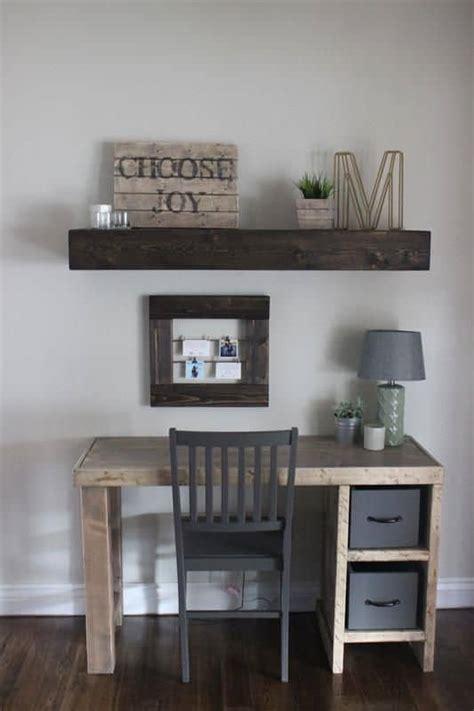 diy desk ideas  improve  home office