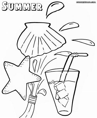Summer Coloring Pages Stuff Sheet Colorings