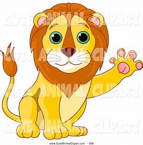 Royalty Free Waving Lion Stock Animal Designs
