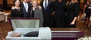 Trump in a Casket May Explain why Bushs/Obamas Smiled at ...