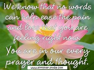 Sympathy Card Messages, Quotes and Sayings - Pink Lover