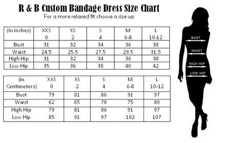 boutique custom  bandage dress size chart