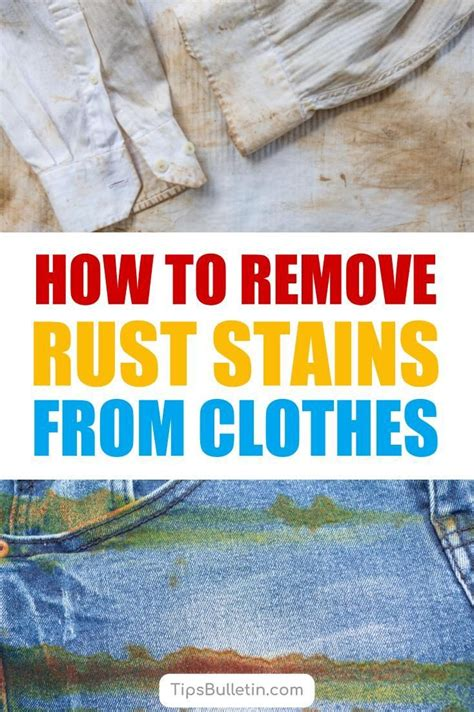rust clothes stains remove ways tipsbulletin