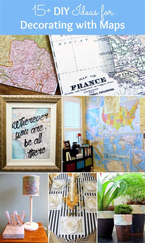 15 Diy Ideas For Decorating With Maps Hello Little Home