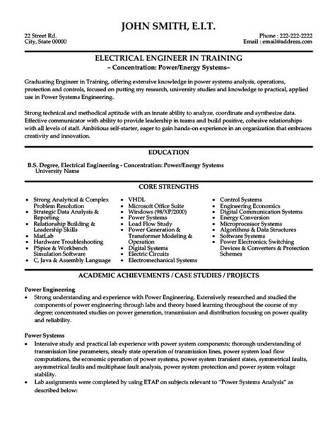 Best Resumes For Electrical Engineers by Electrical Engineer Resume Template Premium Resume Sles Exle