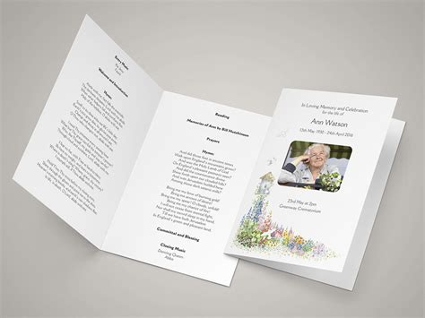 funeral order  service templates  printing  day