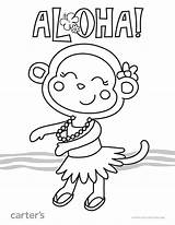 Coloring Luau Printable Worksheets Theme Hawaiian Aloha Sheets Preschool Hawaii Vacation Crafts Printables Take Pdf English sketch template