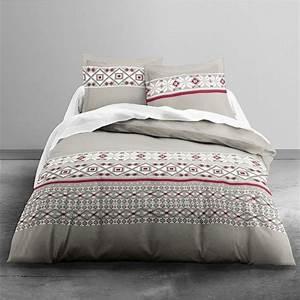 Parure Lit 220x240 : today achat parure de lit flanelle coton 220x240 megeve ~ Teatrodelosmanantiales.com Idées de Décoration