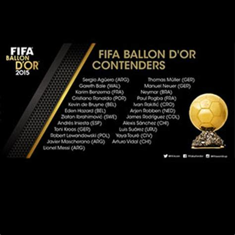 fifa ballon d or shortlist revealed world soccer shop