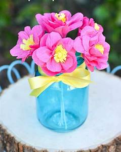 Fleur En Papier Crepon Facile A Faire Comment Cr Er Une Fleur En