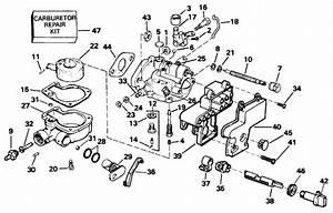 Johnson Carburetor Parts For 1996 3hp Bj3reds Outboard Motor