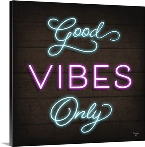 Vibes Neon Wallpaper by Neon Vibes Only Wall Canvas Prints Framed