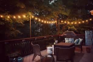 diy hanging outdoor string lights debbiedoos