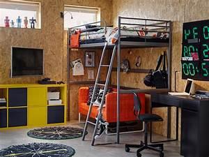 la chambre ado parfaite en 139 photos conseils et idees With tapis jaune avec lit superposé avec canapé ikea