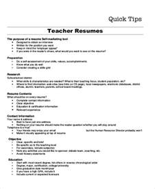 resume objectives for student teachers resume objective exle 10 sles in word pdf