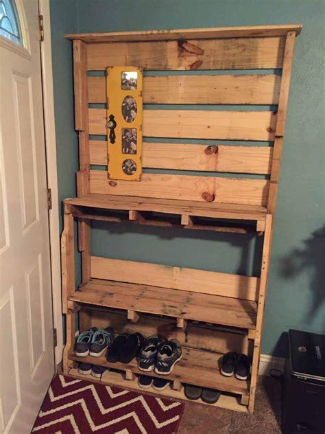 shoe rack  pallets