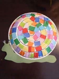 snail craft  kids crafts  worksheets  preschool