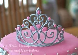 Princesstiara Cake 9 Round Chocvanilla Marble Cake Hand ...