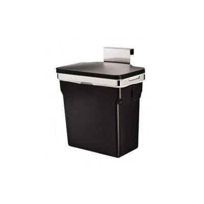 poubelle cuisine de porte poubelle de porte 10 l simplehuman castorama