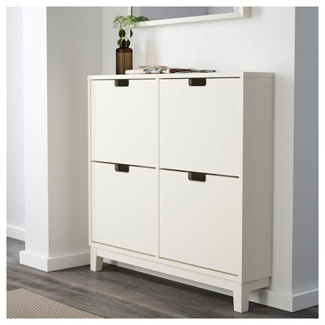 white shoe storage cabinet ställ shoe cabinet with 4 compartments white 96x90 cm ikea