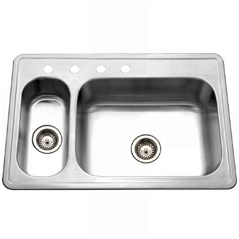 houzer sinks home depot houzer legend drop in stainless steel 33 in 4