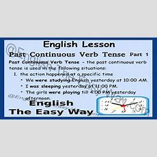 Past Continuous Verb Tense  English Grammar  English The Easy Way