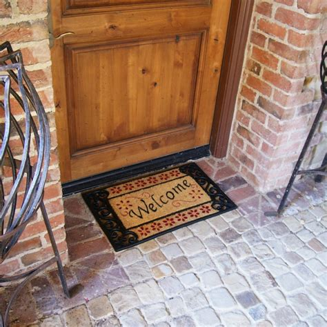 front door welcome mat quot welcome home quot rubber welcome mats