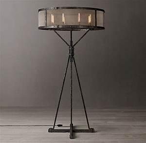 Riveted, Mesh, Floor, Lamp