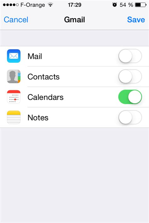 gmail iphone setup calendar default calendar on iphone