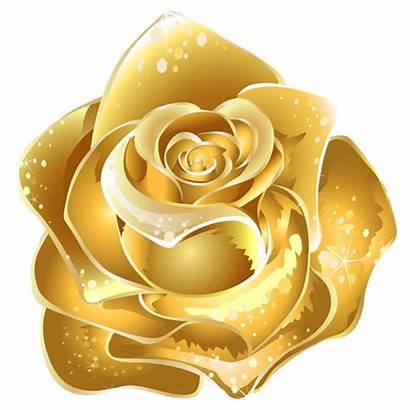 Glitter Rose Graphics Golden Clipart Flowers Copy
