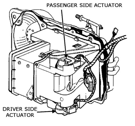 repair guides air mixmode actuator blend door