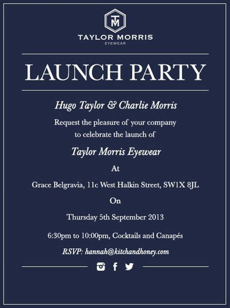 Launch Party Invitation Business invitation Business