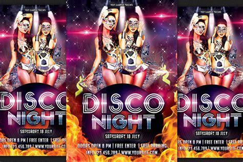 disco party flyer flyer templates creative market