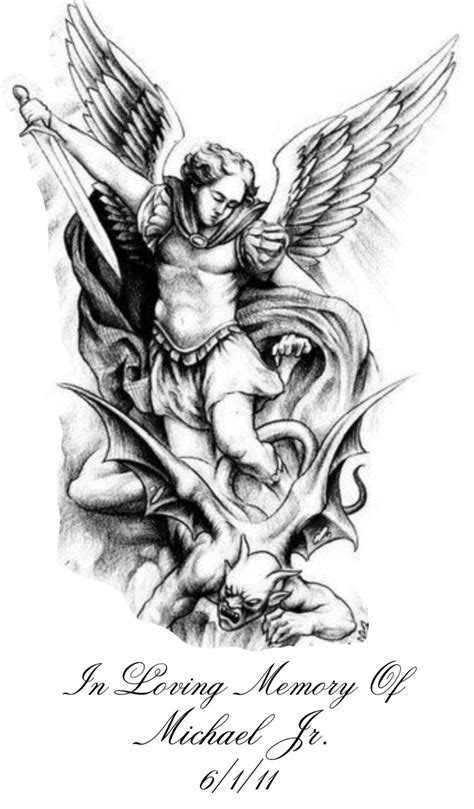 Pin by Mark on My work | Archangel tattoo, Archangel michael tattoo, Tattoo designs