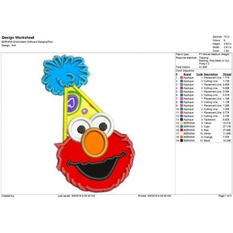 Elmo Applique by Elmo Birthday Applique Design Elmo Applique