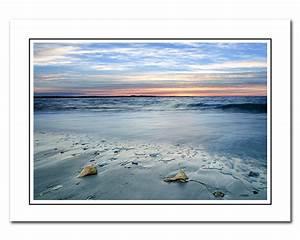 Beach Sunrise Note card with Envelope Seashells Photo Card