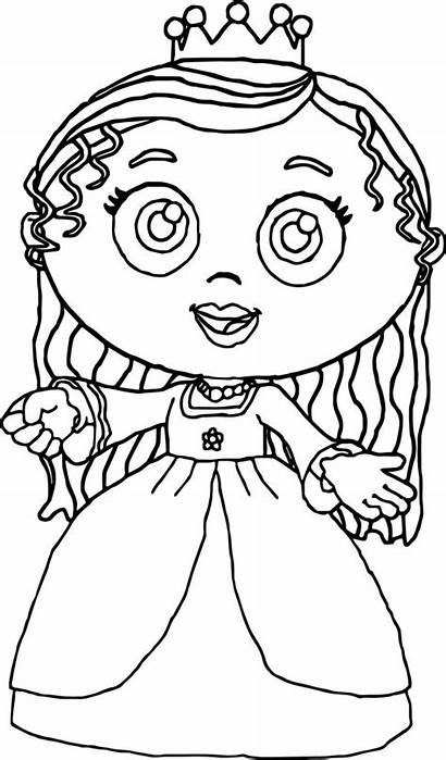 Coloring Pages Super Why Printable Princess Woofster