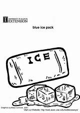 Ice Pack Coloring Pages Edupics sketch template